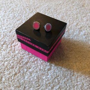 Marc by Marc Jacobs logo stud earrings never worn